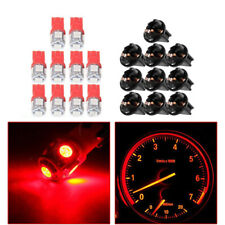 10x Car SUV T10 SMD 194 LED Bulbs Instrument Gauge Cluster Dash Light W/ Sockets