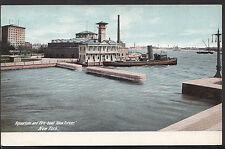 "America Postcard - Aquarium and Fire Boat ""New Yorker"", New York   DR745"