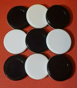 """Othello Reversi Black and White Replacement game Pieces Chips 1"""" Discs Lot of 9"""
