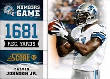 2012 Score Numbers Game Glossy #1 Calvin Johnson Lions