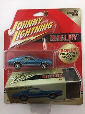 Johnny Lightning 68 1968 Shelby GT 500 Blue Bonus Storage Tin Blue Die Cast 1/64