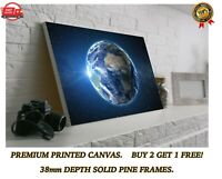 Planet Earth From Space Art Large CANVAS Print Gift A0 A1 A2 A3 A4