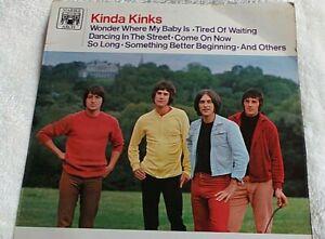 THE KINKS ~ Kinda Kinks ~ 1965 UK Marble Arch label 12-track vinyl LP