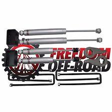 "Freedom Offroad 1""-3"" Leveling Lift Kit w/ Shocks For 00-10 1500HD 2500HD 3500HD"
