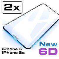 2x 6D Hartglas iPhone 6 iPhone 6s Displayschutzfolie 9H-Schutzpanzer Glasfolie