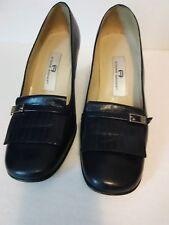 Etienne Aigner Womens Shoes Nottingham Black LeatherCareer Pump Size 8M