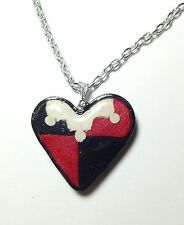 Harley Quinn Inspired Heart Necklace