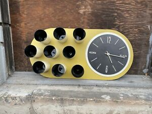 1970s Mid Century Modern Avocado Work Time Clock Herman Miller Knoll Keys