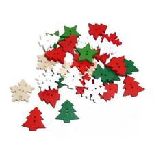 Buddly Crafts 25 mm De Madera Botones - 30 un. mixtas Navidad