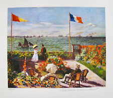 Claude Monet TERRACE BY THE SEASIDE Estate Signed Limited Edition Small Giclee