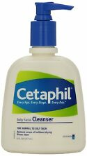 Cetaphil Daily Facial Cleanser For Normal To Oily Skin 8oz Each