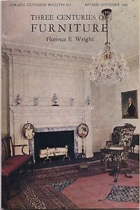 Three Centuries of Furniture 1969 Reprint of 1950 Paperback Booklet by FE Wright