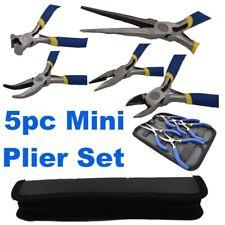 Mini Pliers Combination Side End Cut Long Bent Needle Nose Plier 5pc Set PL299