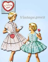 McCall's Pattern 2157: 1950s Cute Girls Dress Size 4 Vintage Sewing Pattern
