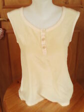 Reiss Cream beige sleeveless casual smart Ladies top Size small size 10/12 used