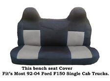 Black/Gray Mesh Fabric Bench seat cover Fit's Ford F150 Truck's 92-04