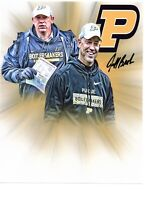 Jeff Brohm Purdue Boilermakers football autographed signed 8x10 photo Boiler Up^