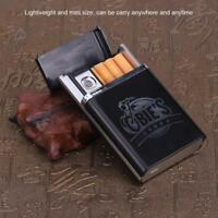 Multifunctional Cigarette Case with Rechargeable Electronic USB Lighter