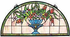 UNIQUE TIFFANY STYLE STAINED GLASS HALF MOON WINDOW ART HOME DECOR NEW