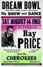 "Ray Price 16"" x 12"" Photo Repro Concert Poster"
