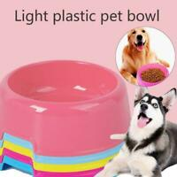 Plastic Bowls Cat Dog Food Water Cat Feeder Dog Bowls Supplies Feeding Pet H4U9