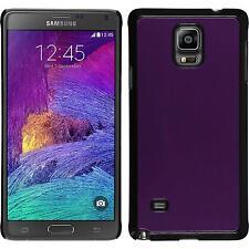 Coque Rigide Samsung Galaxy Note 4 - métallique pourpre + films de protection