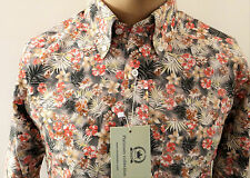 New Relco Platinum Floral Multi Mod Shirt. Button Down Collar, 100 Cotton.