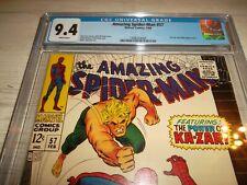 Amazing Spider-man #57 CGC 9.4 *WHITE PAGES* Ka-zar Zabu - 1968 - Romita cover!