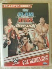 Topps Slam Attack Rebellion Trading card game collectors binder and cards 2008.