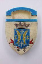 Longwy  Aschenbecher Zigarettendose mit dem Wappen von Longuyon Emailmalerei