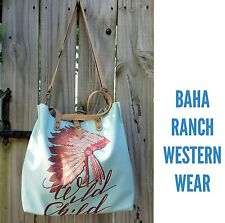 Cowgirl Gypsy native INDIAN  tote Boho Bag Handbag Purse Western 2 sided