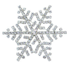 Clear Crystal Snow Snowflake Brooch Pin Wedding Bride Women Fashion Jewelry p40