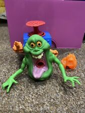 The Real Ghostbusters Gooper Green Ghost Slimer Action Figure + Ecto-1 Ghost