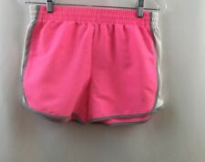 DANSKIN NOW Pink grey White Cotton Blend Drawstring Athletic Shorts Sm 4-6 EUC