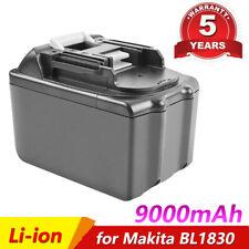 18V 9.0Ah Li-ion Replace Battery for Makita BL1830 BL1890 BL1860 LXT400 194309-1