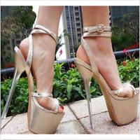 Womens Roman Gladiators Platform Super High Heels Stiletto Sandals Strappy Shoes