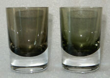 "Set of 2 Smoke Color Cased Glass 2 oz Shot Glasses  3 1/8"" Tall"
