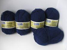 Five 1.75 Ounce 59 Grams Bernat Berella Sportspun Navy Blue 3 Ply Acrylic #1143