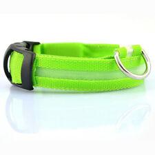 Collar con Luz LED Ajustable Luminoso para Perro Mascota de Nylon Seguridad