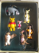 Disney Storybook Winnie The Pooh Christmas Ornament Set of 7 Retired NEW
