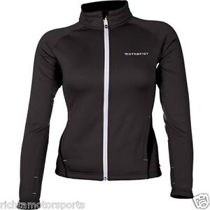 NEW MotorFist Women's  Hydrophobic Fleece Jacket ~ BLACK ~ XL ~ 20617-1019