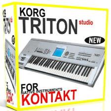 KORG TRITON STUDIO For NI KONTAKT NKI Samples/Presets/Sounds 5 DVD'S 15GB