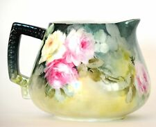 LIMOGES HAND PAINTED ROSES CIDER PITCHER