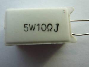Ceramic Resistor 5W 10 Ohms ( 5 Watts , 10Ohm )