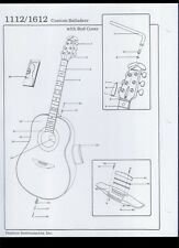 Ovation Custom Balladeer 1112/1612 Guitar With Rod Cover Illustrated Parts List