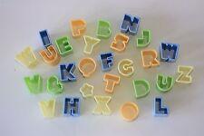 FORMINE per biscotti alfabeto, 27 lettere in plastica, decorazione torte, Sugarcraft, Pasticceria