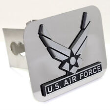 """US Air Force Wing Logo Chrome Tow 2"""" Receiver Hitch Cover Stainless Steel Plug"""