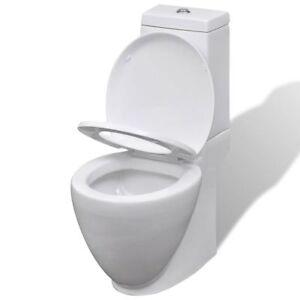 Stand-Toilette/WC mit Twin Flush Spülkasten Bodenstehend Keramik Toilette Weiß