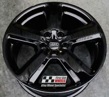 "R119BG YOURS for Ours AUDI A4 A6 4X 18"" 5 SPOKE S-LINE GLOSS BLACK ALLOY WHEELS"