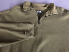 Men's Tommy Bahama 1/4 Zip Green Pull Over Sweater Size L Quarter Zip EUC